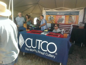 Cutco in the Pavilion Tent