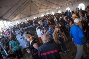 wine tent crowd 2013
