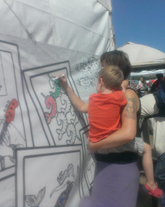 Color-in mural for adults and kids