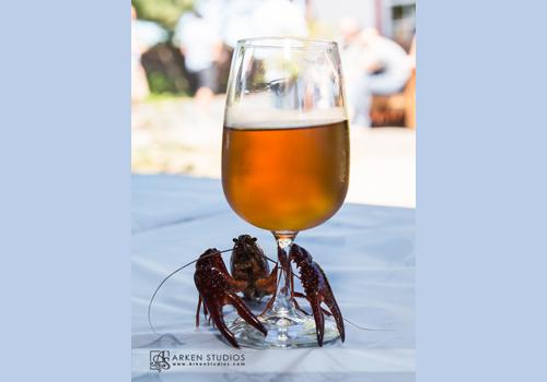 Crawfish and wine